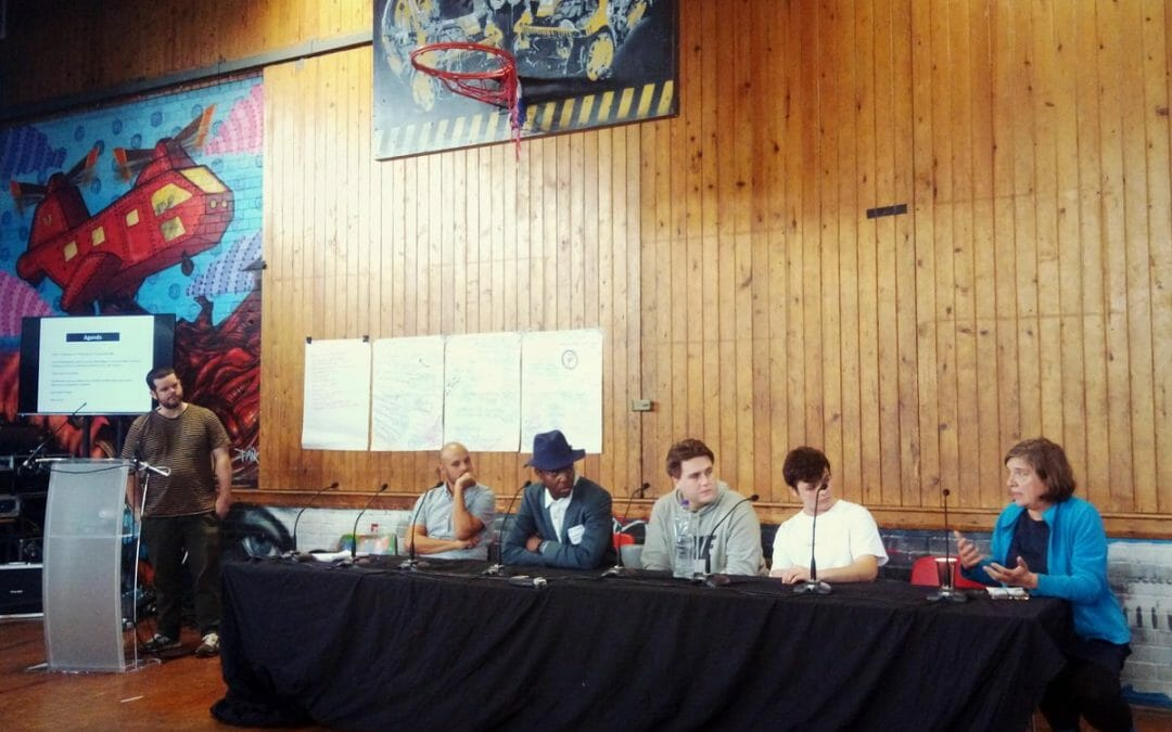 Plenary at the #politicsofspace event – how we can be congruent creators without making art's commodification and consumption the end goal?pic.twitter.com/kAQgsHStk9