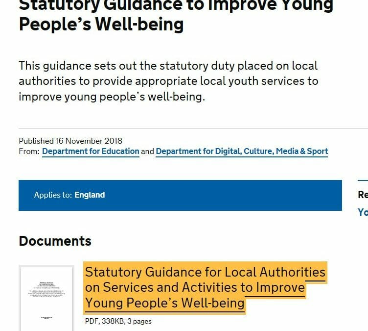 Following @DCMS Aug commitment to review #YouthService #Youthvoice guidance @dcms  & @educationgovuk have republished it. Note refs to 'Must' & 'Should' | Calling all stakeholders to review their current practice. #youthvoice will want to be heard 2. @bycLIVE @natyouthagencypic.twitter.com/pLfUxVkYub