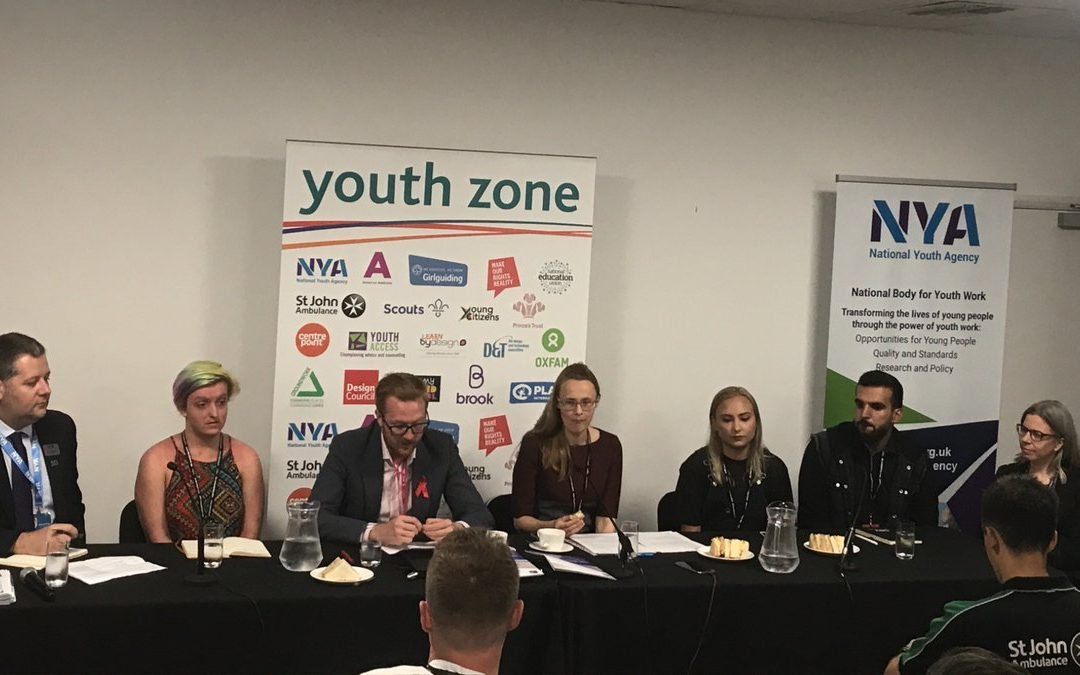 #YZone event led by @natyouthagency about to start on 'Youth Work in Action'.  @lloyd_rm places the event in context by talking about the cuts youth work has experienced as shown in the @YouthAPPG report.pic.twitter.com/hlDWPgVllb