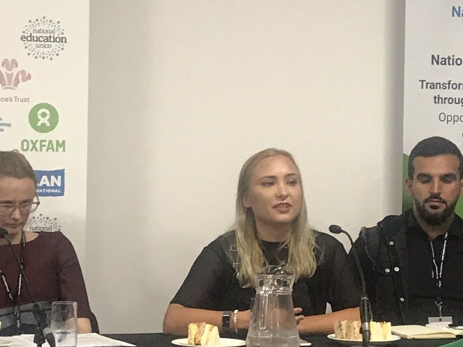 Young activist @CllrJessBarnard highlighting that if you want to transform youth services, you *need* to give young people platforms to have their voices heard #Lab19pic.twitter.com/72aoO9PMyB